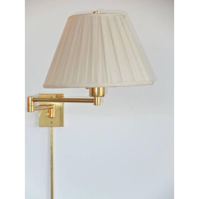 1990s Mid-Century Modern Metalarte Hansen Brass Double Swing Arm Wall Lamps - a Pair For Sale - Image 10 of 11