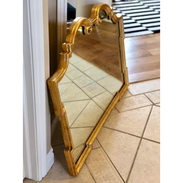 Mid 20th Century 1960s Vintage La Barge Italian Hollywood Regency Gold Gilt Mirror For Sale - Image 5 of 9