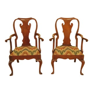 Kittinger Cw-151 Colonial Williamsburg Mahogany Arm Chairs - a Pair