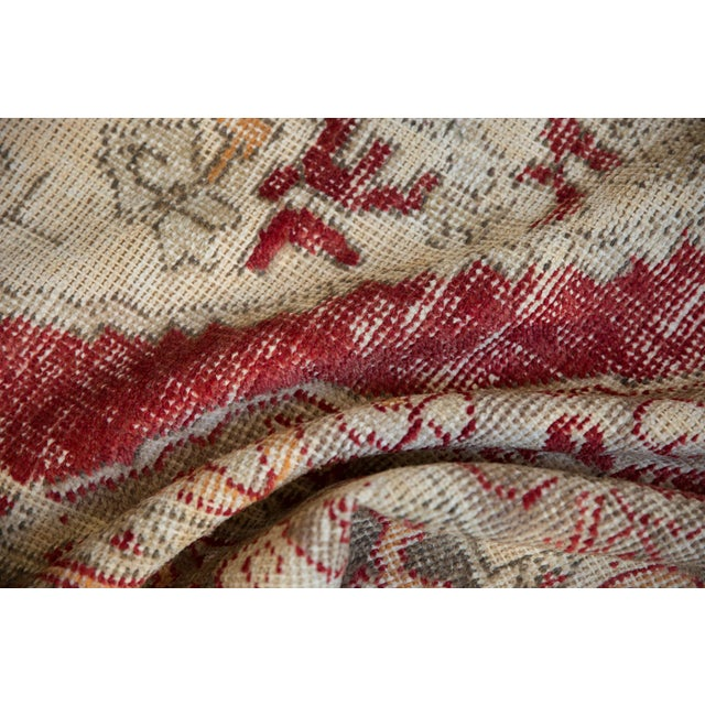 """Islamic Vintage Distressed Oushak Rug - 4'8"""" X 7'8"""" For Sale - Image 3 of 10"""