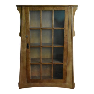 Crafters and Weavers Craftsman Crofter Bookcase Left Hand Door For Sale
