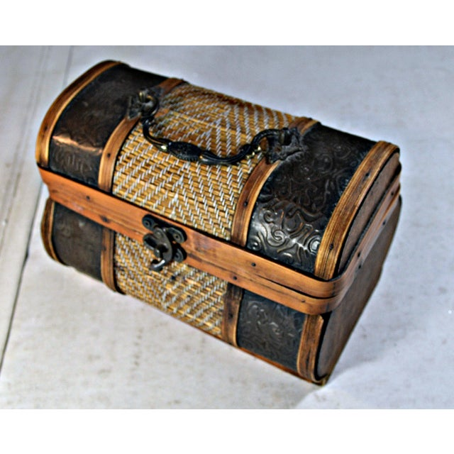 Brass & Wood Coffer for Cigars - Image 5 of 7