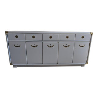 1970s Campaign Drexel Accolade White Credenza For Sale