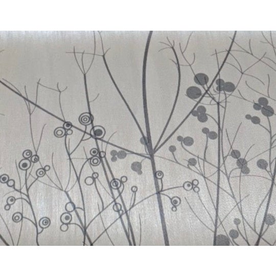 Contemporary Branch and Floral Scene Wallcovering For Sale