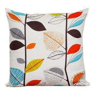 Multi Color Retro Leaf Pillow Cover