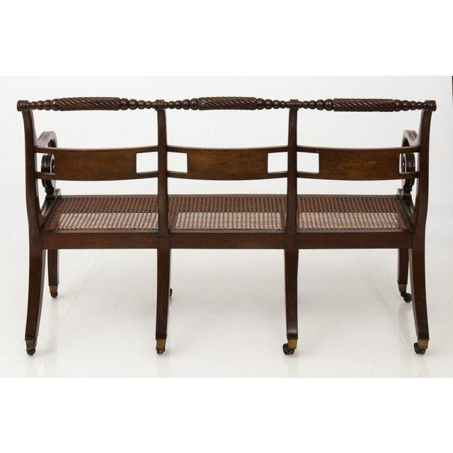 Early 19th Century Early 19th Century Antique Regency Style Triple Back Settee For Sale - Image 5 of 13
