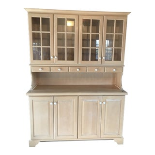Buffet With Hutch - Custom Made Natural Birch Wood For Sale