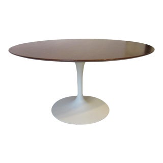 Eero Saarinen for Knoll Walnut Tulip Dining Table For Sale