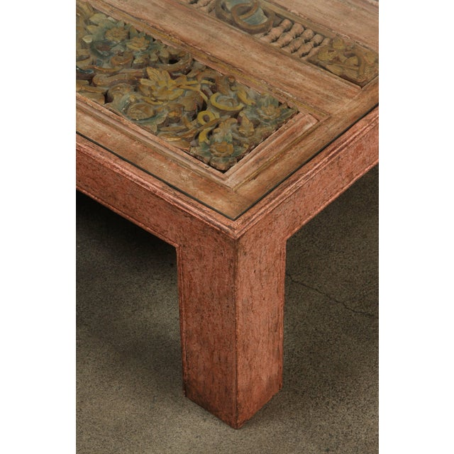 Tony Duquette Moroccan Handcrafted Large Square Coffee Table For Sale - Image 4 of 10