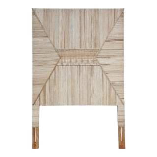 Woven Twin Headboard, Natural For Sale