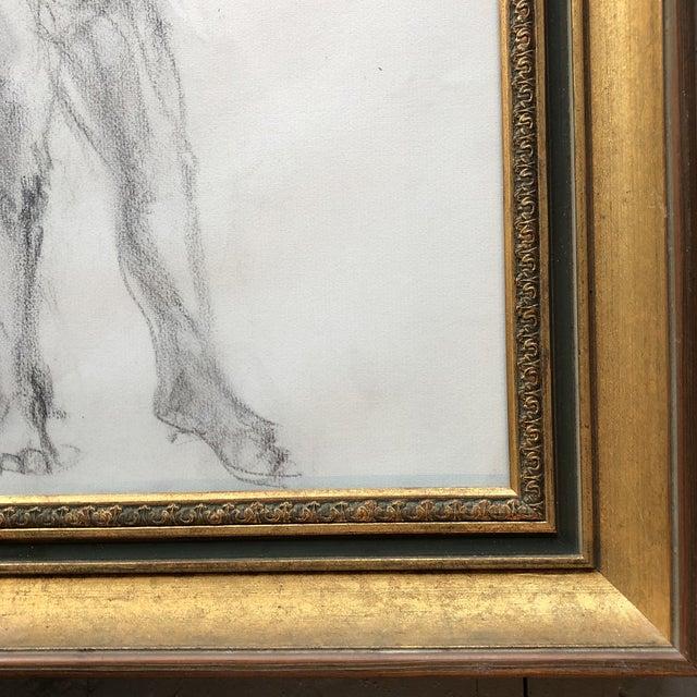Original Vintage Female Nude Charcoal Sketch For Sale - Image 4 of 7