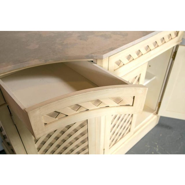 Marble-Top Checkerboard Sideboard For Sale - Image 9 of 9