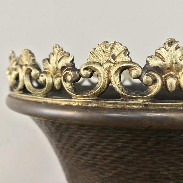 Metal 19th Century Napoleon III Period Bronze and Copper Centerpiece For Sale - Image 7 of 13
