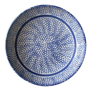 Italian Blue Sponge Bowl For Sale
