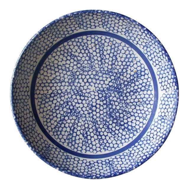 Italian Blue Sponge Bowl For Sale
