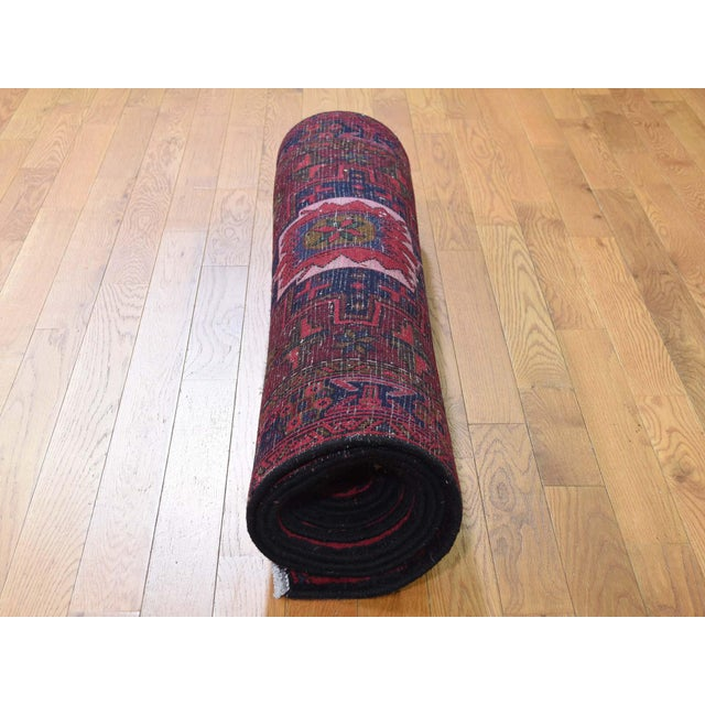 Northwest Persian Heriz Wool Hand-Knotted Runner- 3′10″ × 11′6″ For Sale In New York - Image 6 of 8