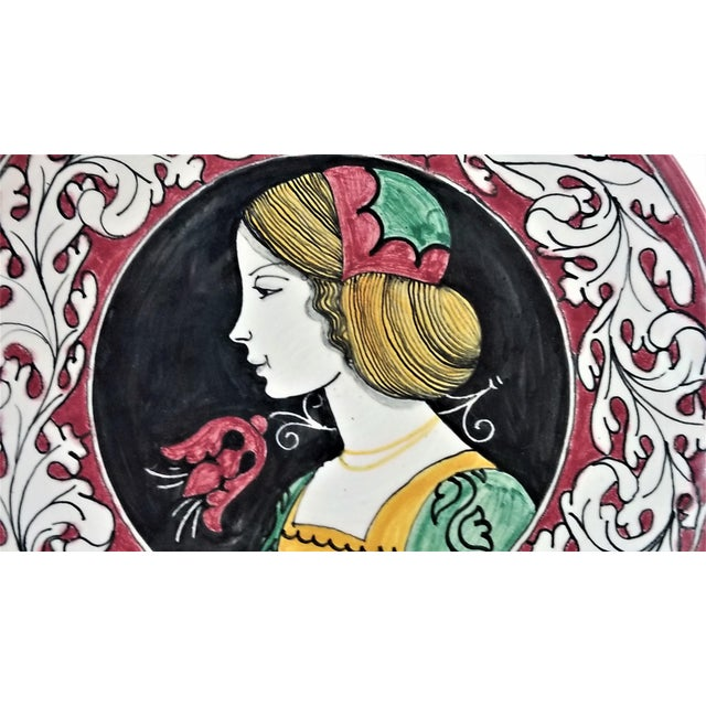 1950s Vintage Italian Majolica Ceramic Wall Plaques by Giacomini Orvieto For Sale - Image 10 of 13