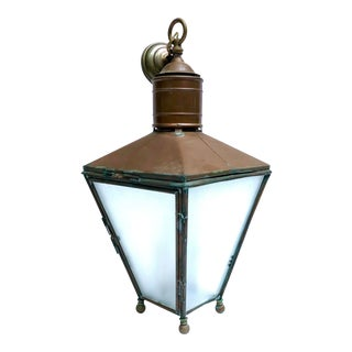 20th Century English Traditional Copper Lantern For Sale