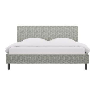 King Tailored Platform Bed in Starburst For Sale