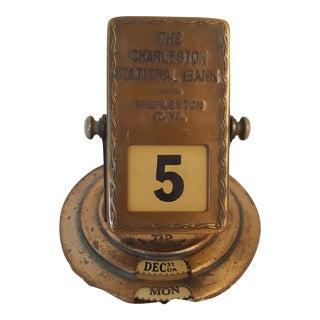 Brass Desktop Tip Top Perpetual Calendar