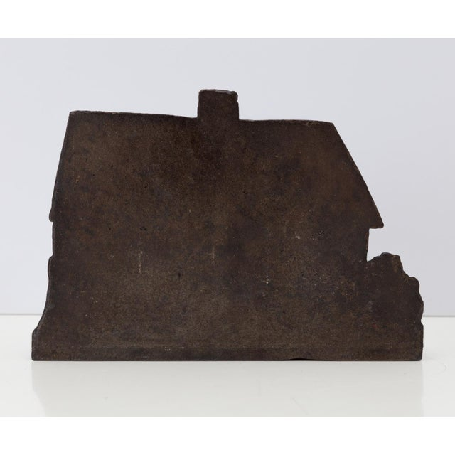 1920s Cast Iron Cottage Doorstop Shabby Chic For Sale - Image 4 of 5