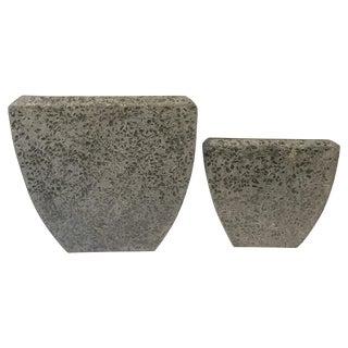 Concrete Mosaic Planters - Pair