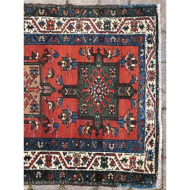 "Vintage Karajeh Wool Runner Rug - 2'10""x11'2"" For Sale - Image 6 of 10"