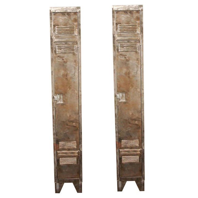 German Industrial Metal Lockers, circa 1940 - A Pair For Sale - Image 10 of 10