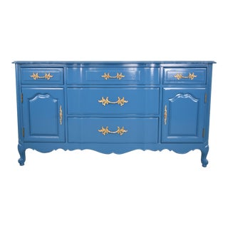 19th Century French Provincial Thomasville Blue Sideboard For Sale