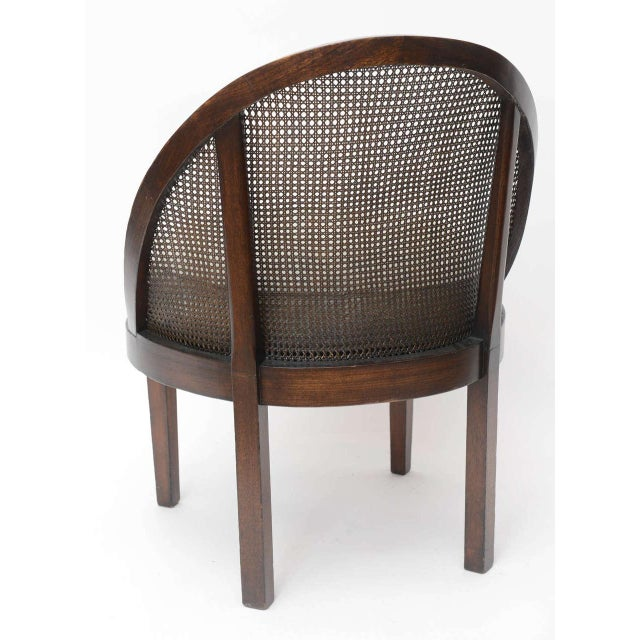 1950s Distinctive Mahogany Cane Back Chair For Sale - Image 5 of 10