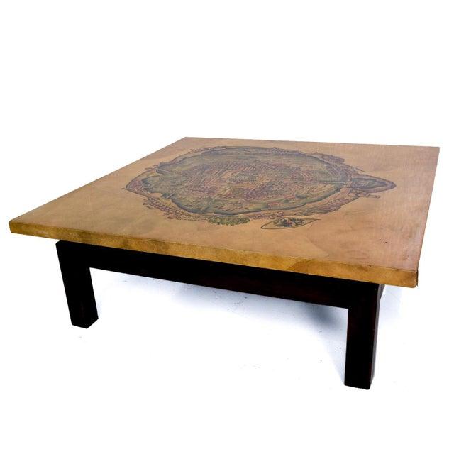Maria Teresa Mendez Coffee Table, Goatskin Mahogany, Mid Century Mod For Sale - Image 10 of 10