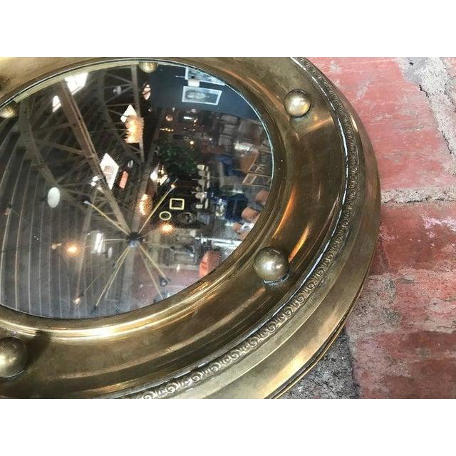 Italian Italian Round Mirror in Brass, 1920 For Sale - Image 3 of 7