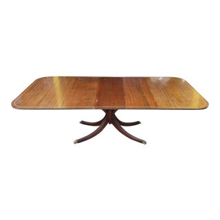 Vintage 1930s Charak Furniture Mahogany Drop Leaf Danbury Dining Room Table W/ 3 Leaves For Sale