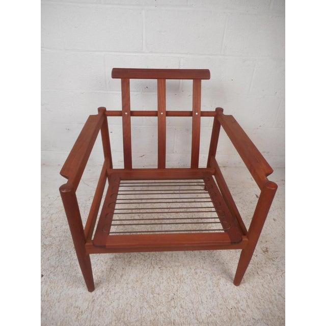 Mid 20th Century Danish Modern Lounge Chair and Ottoman by Bernstorffsminde Møbelfabrik For Sale - Image 5 of 13