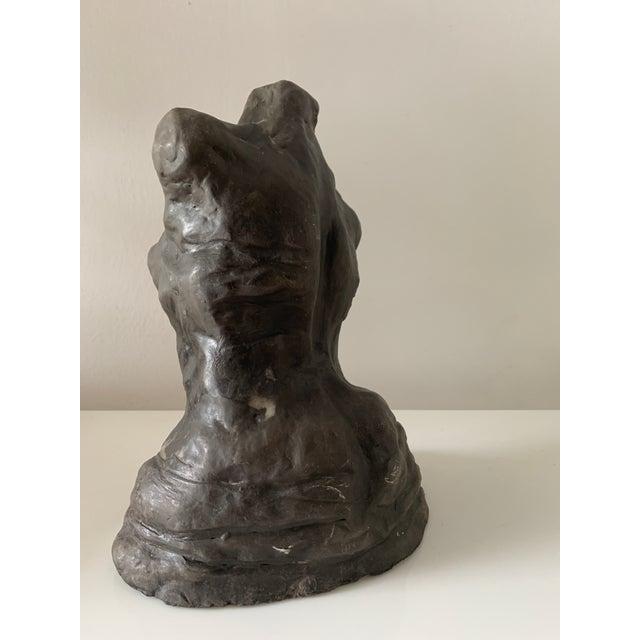 Mid 20th Century Figurative Female Nude Torso Clay Sculpture For Sale In Miami - Image 6 of 10