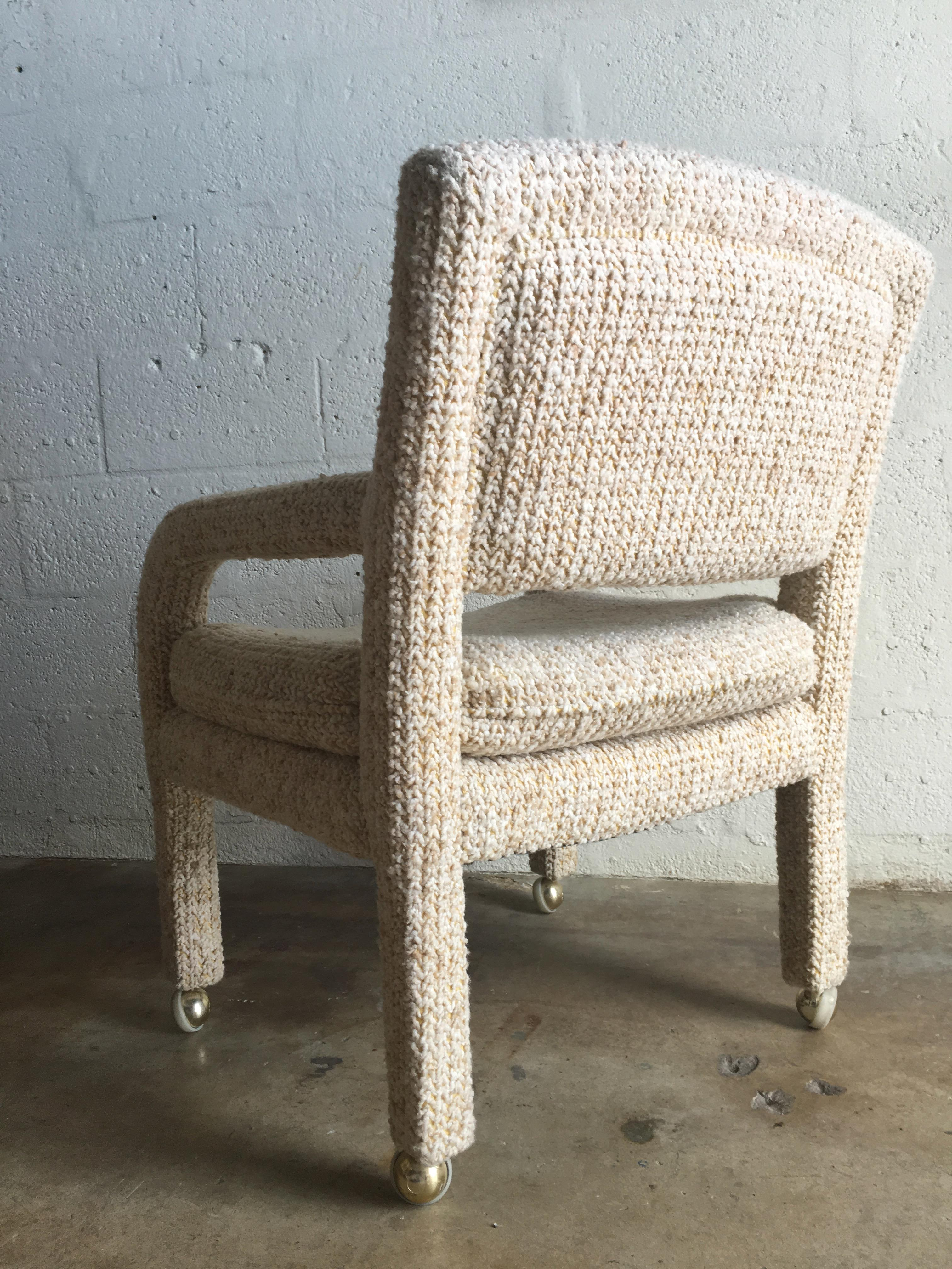 Vintage Mid Century Modern Upholstered Club Chairs By Lane In The Milo  Baughman Style   A