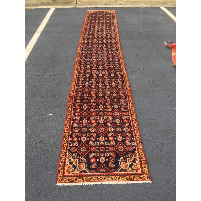 "Vintage Persian Malayer Runner - 2'4"" x 14'4"" - Image 2 of 10"