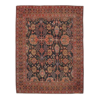Antique Indian Agra Rug with Modern Design