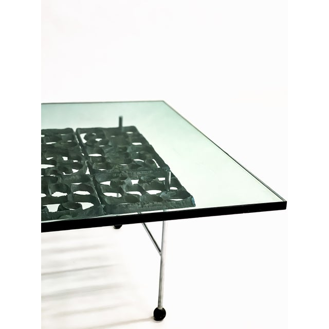 1960's Donald Drumm Studio Brutalist Cocktail Table For Sale In Portland, OR - Image 6 of 9