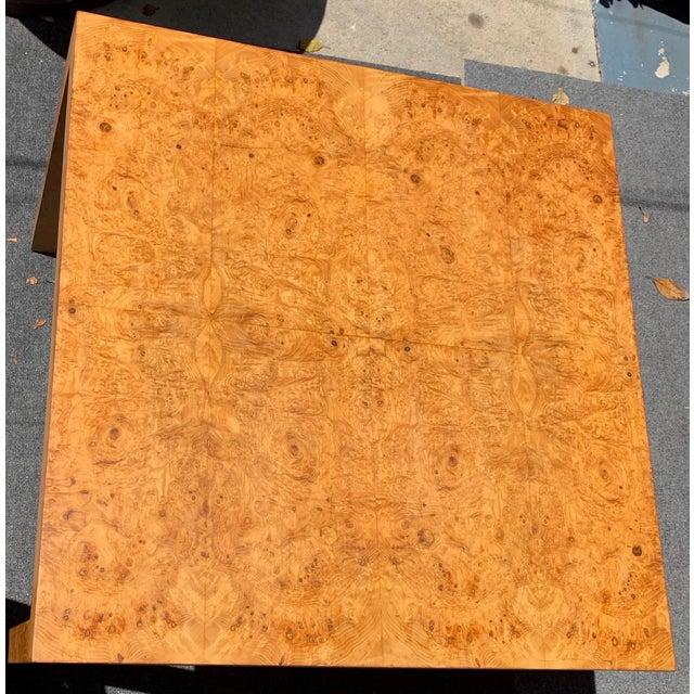 1970s Vintage Mid Century Modern Werner Kanner Burl Wood Table For Sale - Image 5 of 10