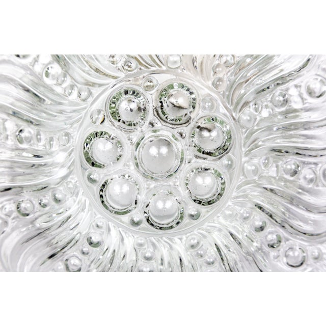Mid-Century Radial Bloom Glass Flush Mount For Sale - Image 4 of 12