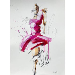 """Ash Almonte """"Pink Dress"""" Original Painting For Sale"""