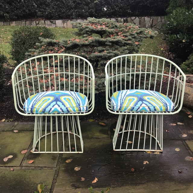 Mid-Century Indoor Outdoor Trina Turk Chairs - a Pair - Image 4 of 9
