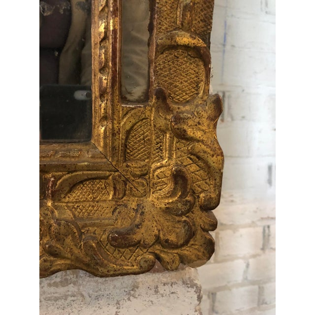 Louis XIV 18th Century Carved Gilt Wood Louis XIV Mirror For Sale - Image 3 of 8