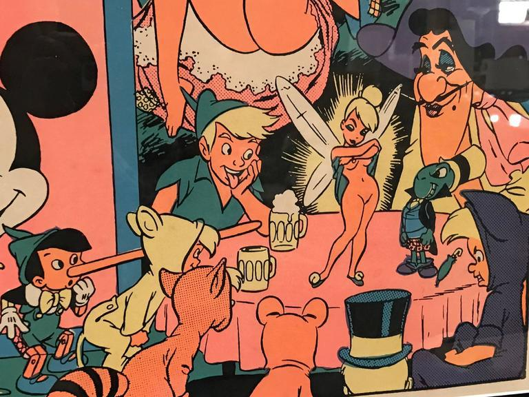 Topless disney orgy girl from