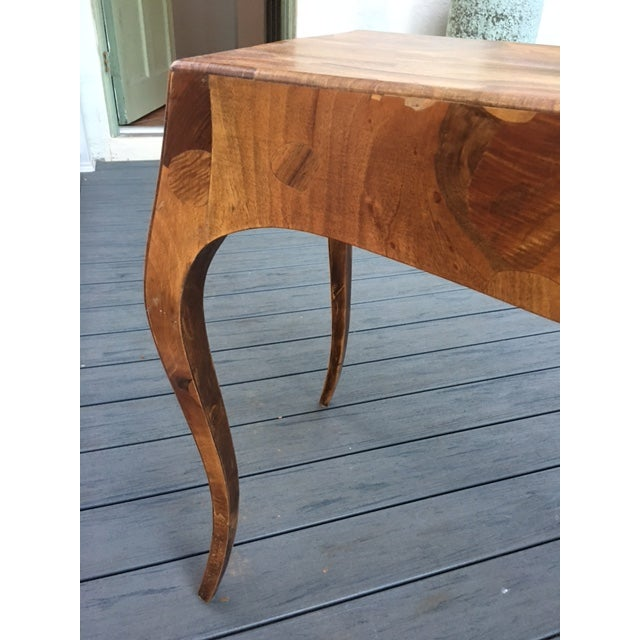 French Mahogany Burlwood Veneer Desk - Image 8 of 11