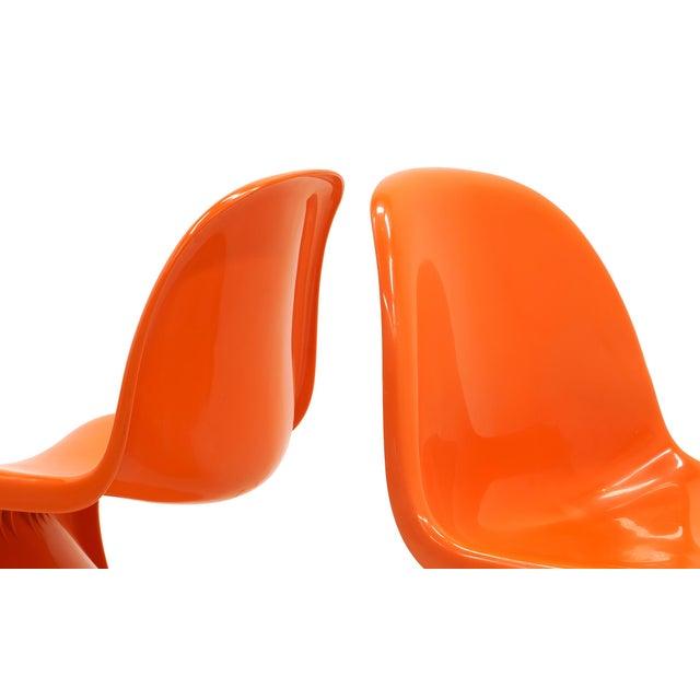 Plastic Vintage Orange Verner Panton S Chairs- Set of 7 For Sale - Image 7 of 10