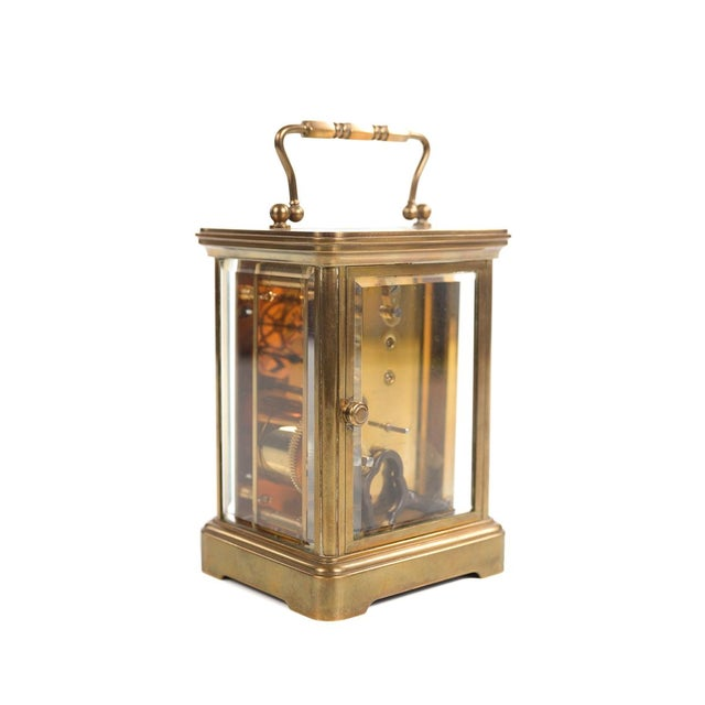 Tiffany & Co. Vintage Brass Carriage Clock For Sale In Los Angeles - Image 6 of 9
