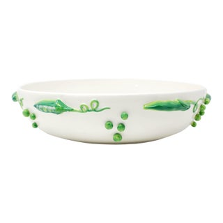 "Large 15"" Dimensional Peas Bowl For Sale"