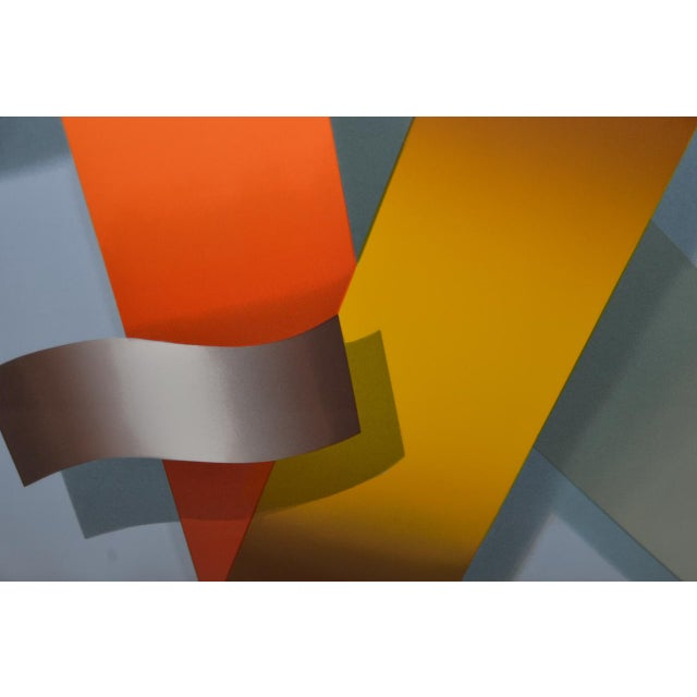 Lacquer Daniel Heidi Modernist Abstract Serigraph For Sale - Image 7 of 10